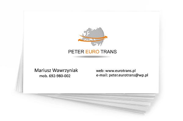 Peter Euro Trans - wizytówka